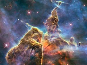 This new Hubble photo is but a small portion of one of the largest seen star-birth regions in the galaxy, the Carina Nebula.